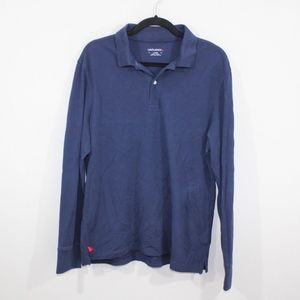 Untuckit Mens Large Long Sleeve Golf Polo Shirt